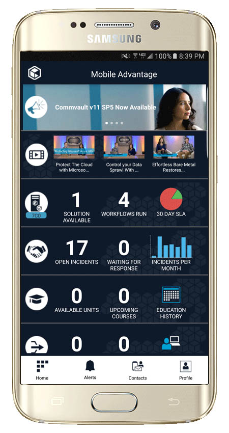 Commvault Mobile Advantage en smartphone